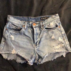 BlankNYC High Rose High Waisted Denim Shorts